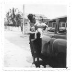 Con mi madre en Salinas, 1958