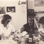 Con Rocío, Alonso y la negra Elsie, 1985
