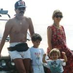 Con Rocío, Lorenzo y Federico, 1993