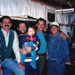 Con Dany Cobo, Jimmy Iglesias, Luquitas y Napo, 1997
