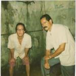 Con Andrés Crespo en el set de Crónicas, 2003